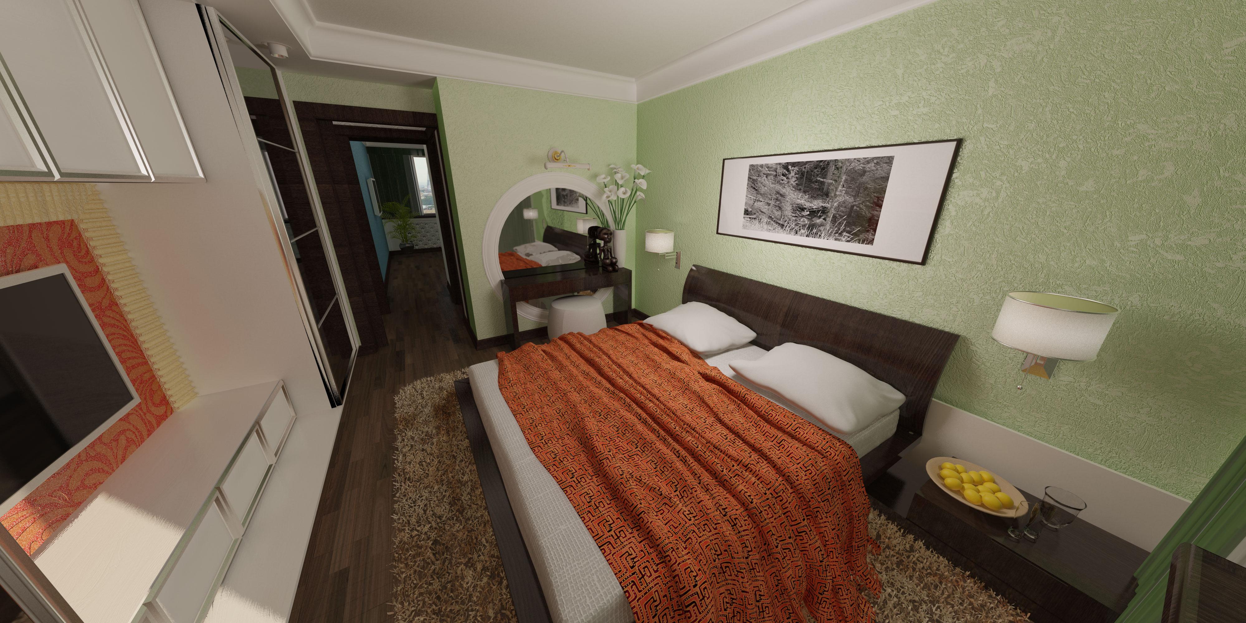 Спальня шкаф открыт 2