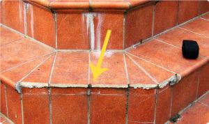 Затирка швов по крыльцу (ступени и площадки)
