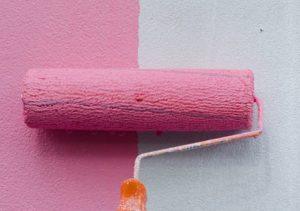 Окраска стен масляными красками (в 2 слоя)