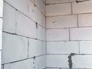 Кладка стен из газобетона