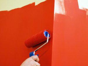 Окраска стен водоэмульсионной краской (в 2 слоя)